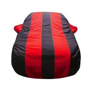 Bull Rider Car Body Cover for Ford Ecosport (with Mirror Pockets- Red & Blue)