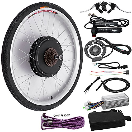 "FCH 26"" Rear Wheel Electric Bicycle Conversion Kit,48V 1000W Ebike Hub Motor Conversion Kit"