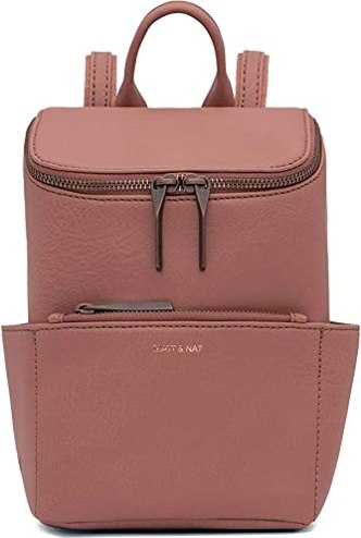 Matt & Nat Brave Mini Handbag, Dwell Collection, Clay (Pink)