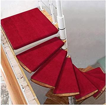 Carpets Stairs Treads For Steps Self Adhesive Stair Treads Mats | Self Stick Stair Treads | Slip Resistant | Modern | Vinyl Covered | Contemporary | Pad