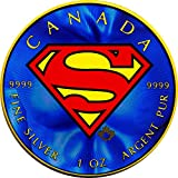 2016 CA Modern Commemorative PowerCoin SUPERMAN Maple Leaf Colorized 1 Oz Silver Coin 5$ Canada 2016 BU Brilliant Uncirculated