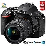 Nikon D5600 Digital SLR Camera & 18-55mm VR DX AF-P Lens - (Renewed)