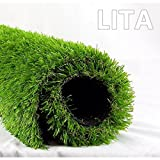 LITA Realistic Deluxe Artificial Grass Synthetic Thick Lawn Turf Carpet 3.3 FT x 5 FT (16.5 Square FT) -Perfect for indoor/outdoor Landscape