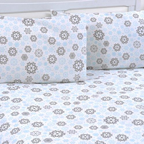Mellanni 100% Cotton 4 Piece Printed Flannel Sheets Set