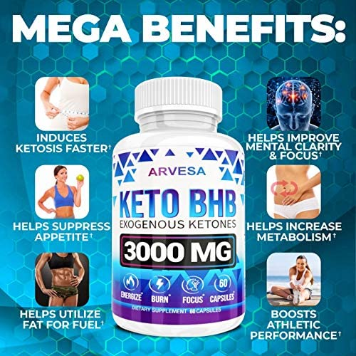 Keto Diet Pills - 5X Dose (2 pack | 3000mg Keto BHB) - Best Exogenous Ketones BHB Supplement for Women and Men - Boost Energy & Focus, Support Metabolism - Made in USA - 120 Capsules 5