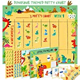 Potty Training Chart for Toddlers - Dinosaur Design - Sticker Chart, 4 Week Reward Chart, Certificate, Instruction Booklet and More - for Boys and Girls