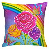 FEDDIY Soft Polyester Throw Pillow Covers Set Pillow Covers for Sofa Couch Bedroom Lisa Frank 20X20