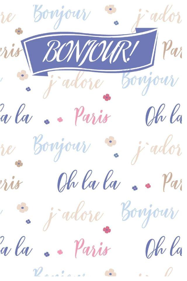 Bonjour!: Cute Paris Journal/Notebook for Adults/Children France