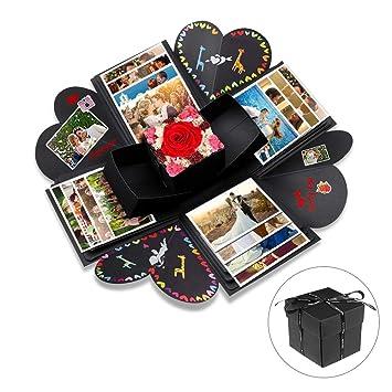 Explosion Box Opamoo Scrapbook Creative Diy Photo Album Con 16 Pcs Di Accessori Fai Da Te Album Fotografico Creativo Album Di Foto Regalo Per San