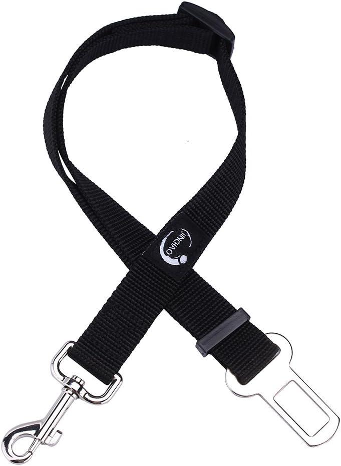 JINCHAO Cinturón de Seguridad para Perros 19-31 Pulgadas Ajustable Duradero Cinturón de Seguridad de Coche para perro Cachorro Gato Gata Mascotas