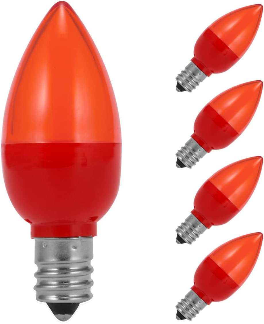 JandCase C7 Red LED Bulb