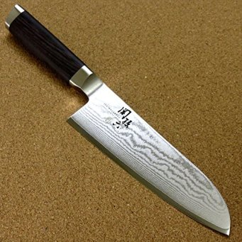 "Japanese KAI SEKI MAGOROKU Kitchen Santoku Knife 165mm 6.5"" VG-10 Damascus JAPAN ;TM79F-32M UGBA532752"