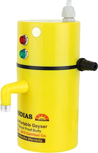INDIAS, Instant Electric Water Geyser ABS Body- Shock Proof || Electric Saving || 24 Month Replacement Guarantee etc.