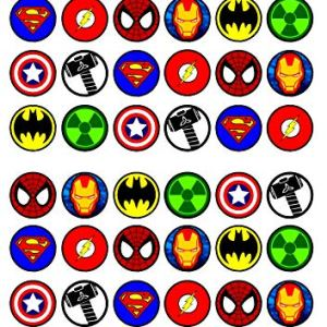 48 Superhero Mix Edible Cupcake Toppers – Stand Up Wafer Cake Decorations 61ls3bcU6jL
