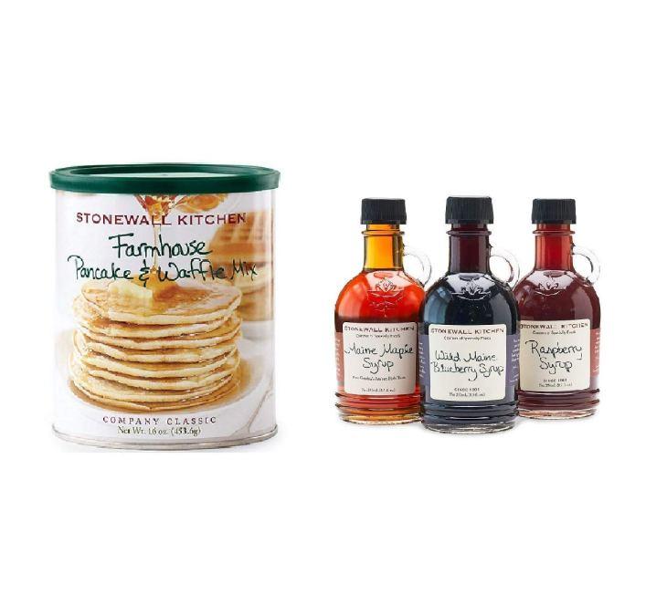 Stonewall Kitchen Syrup Variety Pack and Stonewall Kitchen Farmhouse Pancake & Waffle Mix Bundle - Useful Things to Buy on Amazon