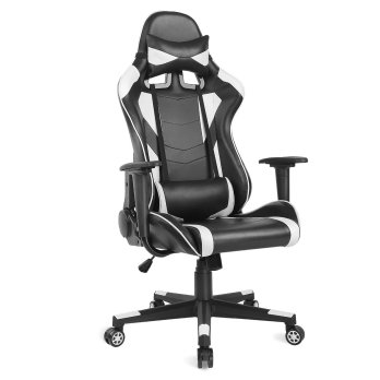 AuAg Ergonomic Gaming Chair Racing Style Adjustable High-Back PU Leather Office Chair Computer Desk Chair Executive Ergonomic Style Swivel Video Chair.