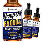 Hemp Oil Drops 65 000 MG - Effective Pain Reliever - Anti-Stress - Made in USA