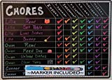 Chore Charts for Kids Multi Use Magnetic Dry Erase Board Responsibility Behavior Chart Menu Planner to Do Calendar 12'x17'