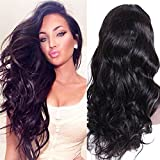 Premier Wig Body Wave Lace Front Human Hair Wigs Glueless Brazilian Remy Virgin Human Hair Natural Deep Body Wave Lace Wigs with Baby Hair for Women 18Inches Natural Color Lace Wig