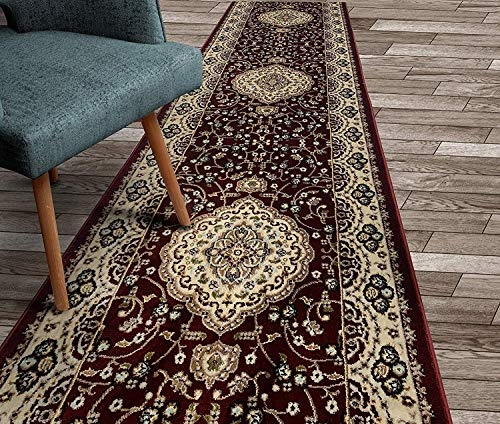 Persian Runner Rugs | Hallway Carpet Runners Sold By The Foot | Rug Depot | Hall | Woven Rug | Wool Rug | Fleur De Lis