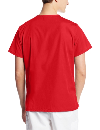 Cherokee Big and Tall Originals Unisex V-Neck Scrubs Shirt, Red, XX-Large deal 50% off 61mqySZnpiL