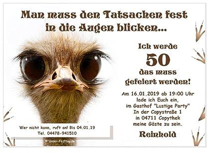 Einladungen Für Feste Aller Art Geburtstag Silvester Prüfung Hochzeit Lustig Mit Wunschtext 20 Karten Din A6