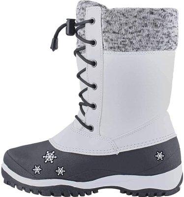 Baffin Girl's Avery Waterproof Winter Boot White 1 Medium US