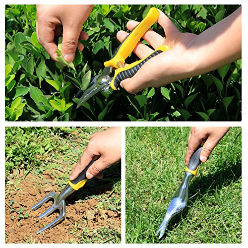 SONGMICS-7-Piece-Garden-Tool-Set-Includes-Garden-Tote-and-6-Hand-Tools-W-Heavy-Duty-Cast-aluminum-Heads-Ergonomic-Handles-UGGB31L