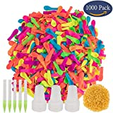 Simona Micah 1000 Pack Water Balloons with Refill Quick & Easy Kit Latex Water Bomb Balloons Fight Games for Kids and Adults