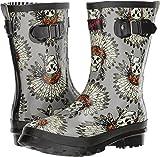 Blazin Roxx Women's Remi Chief Skull Rain Boots, Grey Rubber, 8 M
