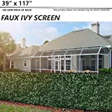 BOUYA 39' x 117' Fence Screen Faux Ivy Privacy with Mesh Back-Artificial Leaf Vine Hedge Perfect for Outdoor Décor Garden Backyard Decoration Panels Fence Cover