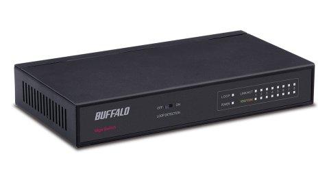 BUFFALO Giga対応 金属筺体 電源内蔵 8ポート ブラック スイッチングハブ LSW5-GT-8NS/BK