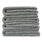 Polyte Premium Quick Dry Lint Free Microfiber Bath Towel, 57 x 30 in, Set of 4 (Gray)