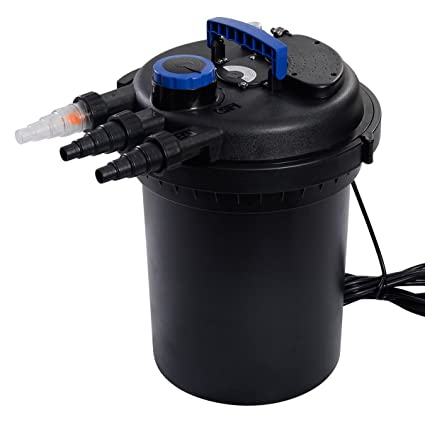 Goplus Pond Pressure Bio Filter 4000GAL W/ 13W UV Sterilizer Light 10000L Koi Water