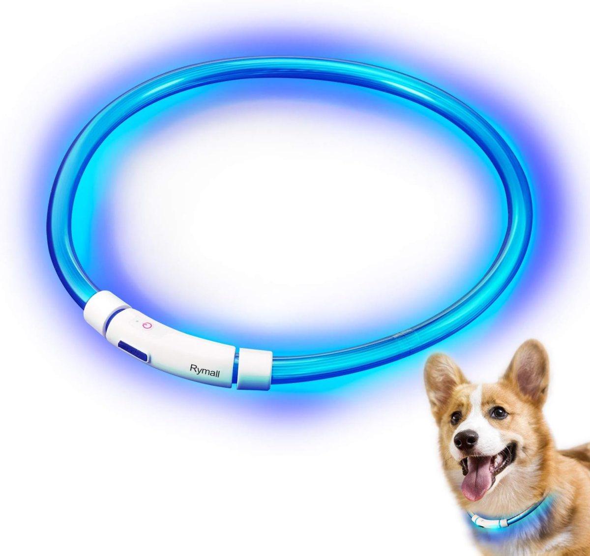 Collar para Perros, Collar de Seguridad para Perros, Rymall collar adiestramiento USB ajustable