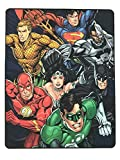 """DC Comics Warner Brothers Justice League """"League Front"""" Throw Blanket"""