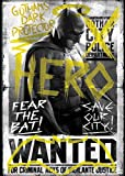 "Ata-Boy Batman v Superman Dawn of Justice Batman Fear the Bat 2.5"" x 3.5"" Magnet for Refrigerators and Lockers"