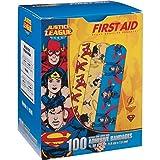 """Justice League 100CT Bandages 3/4x3"""", DC Comics Offficial (Superman, Wonderwoman, Flash)"""