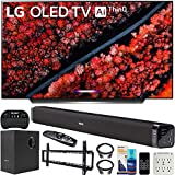 LG OLED55C9PUA 55-inch C9 4K HDR Smart OLED TV with AI ThinQ (2019) Bundle with Deco Gear 60W Soundbar with Subwoofer, Wall Mount Kit, Deco Gear Wireless Keyboard and 6-Outlet Surge Adapter