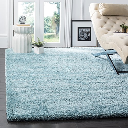 Safavieh Milan Shag Collection SG180-6060 Aqua Blue Area Rug (5'1' x 8')