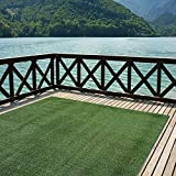 Indoor/Outdoor Turf Rugs and Runners in Green 6' X 13' Low Pile Artificial Grass in Many Custom Sizes and Widths with Finished Edges with Binding Tape