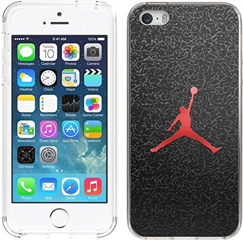 iPhone SE2 Case, iPhoneSE Case, Ailiber Basketball Shot Sport Dunk MJ Black Slim Fit Anti Scratch Shock Proof Fingerprint Lightweight Soft TPU Protector Cover for Apple iPhone 5 5S SE SE2- Basketball