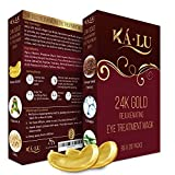 [BLACK FRIDAY SALE] 24K Gold Rejuvenating Eye Treatment Mask - Reduce Puffiness and Dark Circles under Eyes - Anti Aging, Wrinkle care Gold Collagen Pads for Women and Men - (Pack of 20 Pairs)