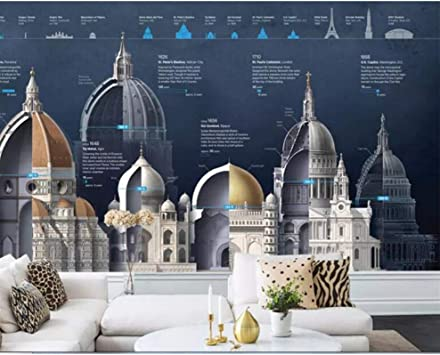 Wallpaper Retro Vintage European Dome Church Wall Mural Architecture Structure Photo Wallpaper Background For Walls 3d W 200x H 140cm Amazon Co Uk Diy Tools