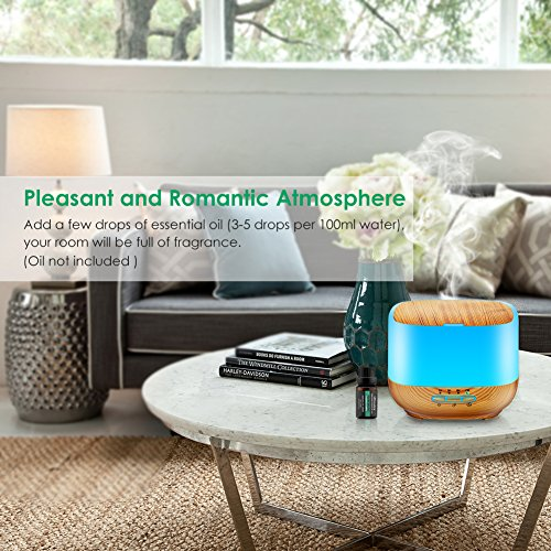 TomCare 500ML Square Essential Oil Diffuser Humidifiers Ultrasonic ...