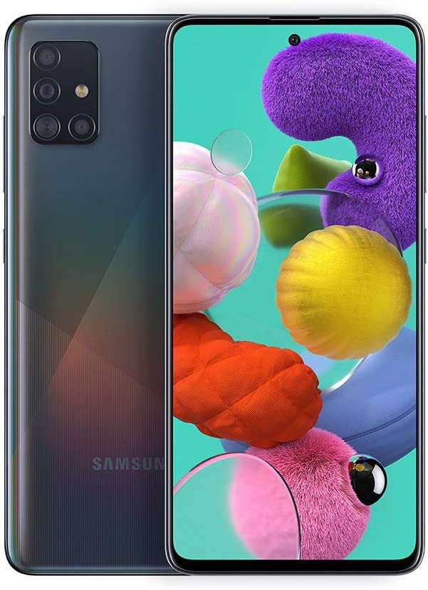 Amazon Com Samsung Galaxy A51 A515f 128gb Duos Gsm Unlocked Phone W Quad Camera 48 Mp 12 Mp 5 Mp 5 Mp International Variant Us Compatible Lte Prism Crush Black Electronics