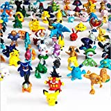 LEXSmith 144 Pcs Anime Figure, Mini Action Figures Monster Toys Set for Pokemon Game Player, Kid's Great Gifts (144)