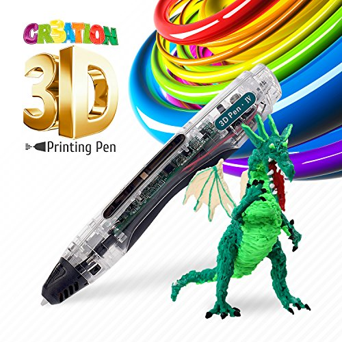 3D Drawing Pen - Safe for Kids & Adults – Simple 1 Button Operation – Won't Burn – No Mess – Non-Toxic – Won't Clog Guaranteed - 2017 Gen 3D Printing Pen
