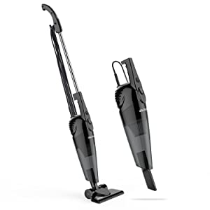SOWTECH 600W 2 in 1 Corded Upright Lightweight Stick Vacuum and Handheld Vacuum Cleaner, HEPA Filtration Crevice Tool and Brush Accessories