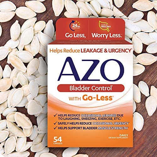 AZO Bladder Control with Go-Less Daily Supplement | Helps Reduce Occasional Urgency* | Helps reduce occasional leakage due to laughing, sneezing and exercise | 54 Count Capsules 7
